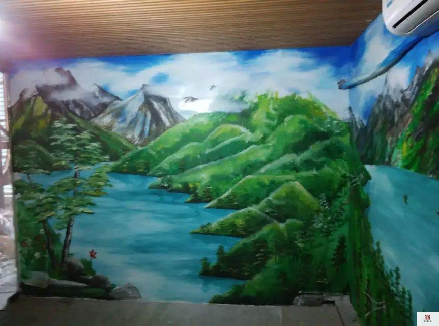 绿色城市墙绘 - 苏州半亩(红枫叶)墙绘公司